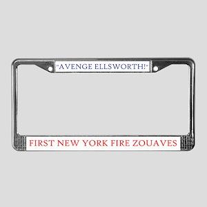 Custom Zouave License Plate Frame