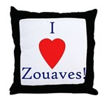 I Love Zouaves Throw Pillow