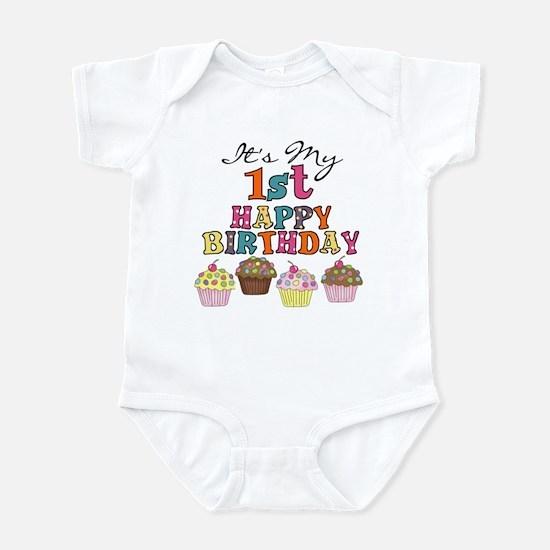 Cupcakes 1st Birthday Infant Bodysuit