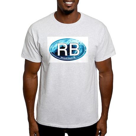 RB Rehoboth Beach Wave Oval Light T-Shirt