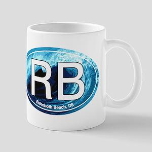 RB Rehoboth Beach Wave Oval Mug