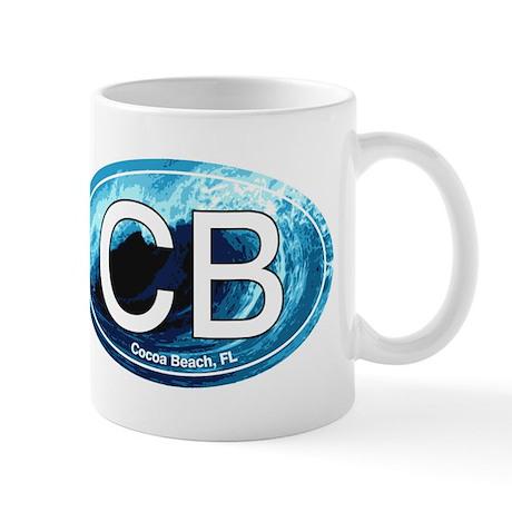 CB Cocoa Beach Wave Oval Mug