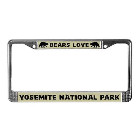 Bears Love Yosemite National Park License Frame