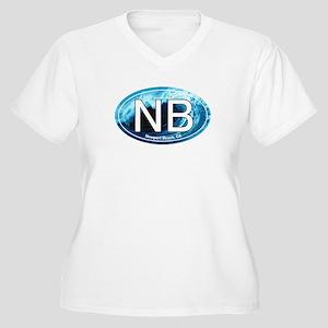 NB Newport Beach Wave Oval Women's Plus Size V-Nec