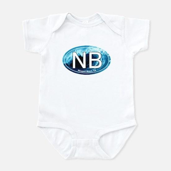 NB Newport Beach Wave Oval Infant Bodysuit