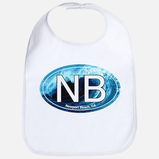 NB Newport Beach Wave Oval Bib