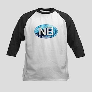 NB Newport Beach Wave Oval Kids Baseball Jersey