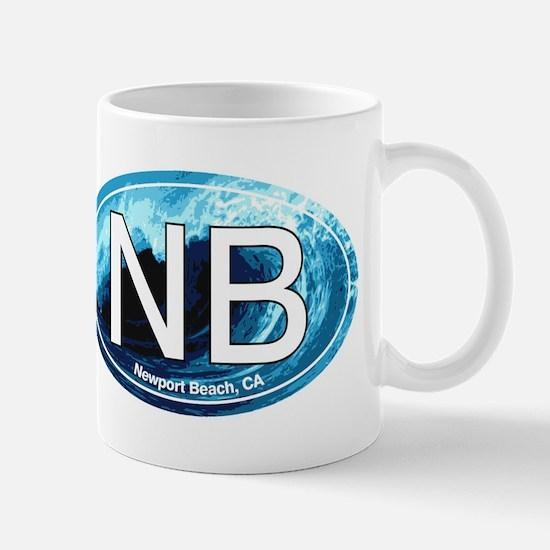 NB Newport Beach Wave Oval Mug