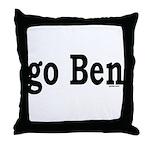 go Ben Throw Pillow