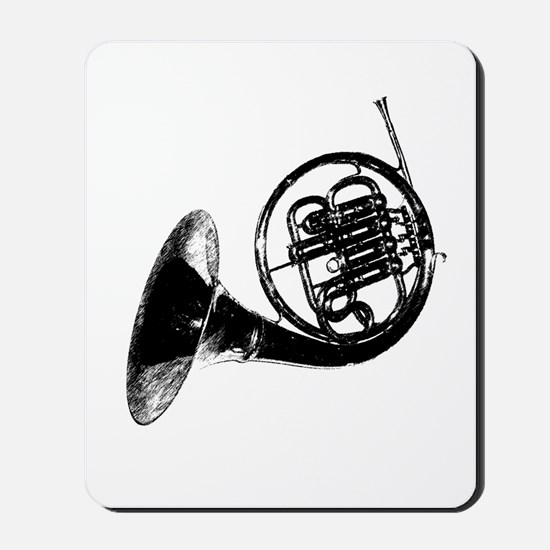 Black French Horn Mousepad