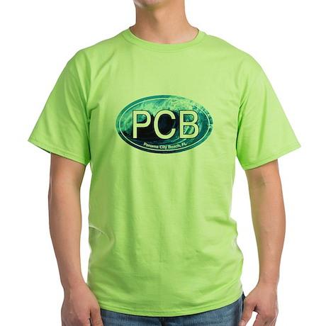 PCB Panama City Beach Oval Green T-Shirt