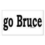 go Bruce Rectangle Sticker