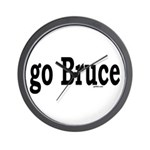 go Bruce Wall Clock