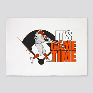It's Game Time - Baseball (Orange) 5'x7'Area Rug