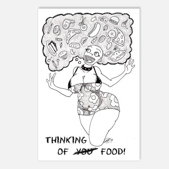 Thinking Of Food Germaine Postcard (Package of 8)