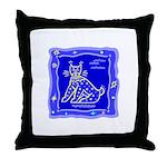 BlueCat Throw Pillow