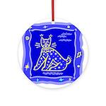 BlueCat Ornament (Round)