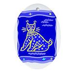 BlueCat Oval Ornament