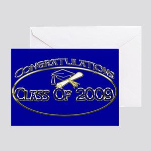 Class Of 2009 Blue Greeting Card