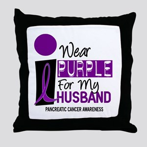 I Wear Purple For My Husband 9 PC Throw Pillow