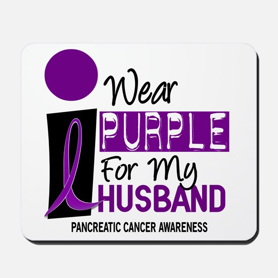 I Wear Purple For My Husband 9 PC Mousepad