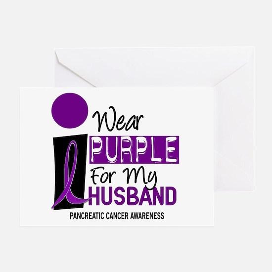 I Wear Purple For My Husband 9 PC Greeting Card
