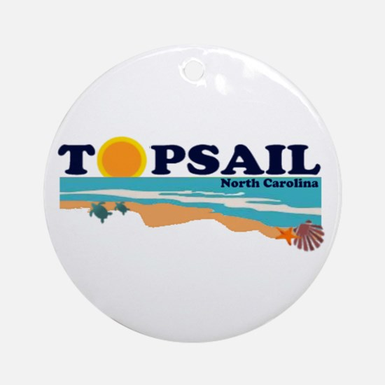 Topsail NC Ornament (Round)