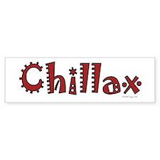oddFrogg Red Chillax Bumper Sticker