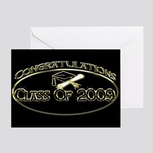Class Of 2009 Black Greeting Card