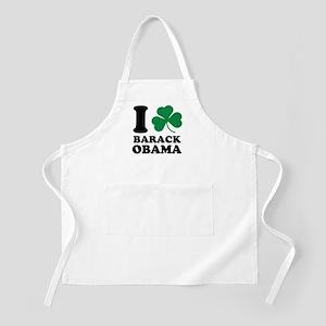 I Shamrock Barack Obama BBQ Apron
