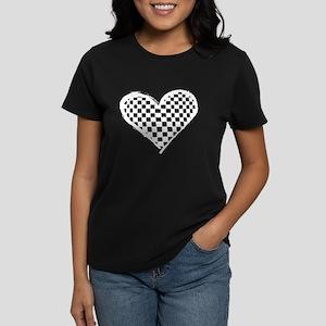 Checkered Heart Women's Dark T-Shirt