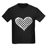 Black and white checkered Kids T-shirts (Dark)