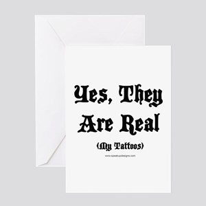 Yes, They Are Real Greeting Card