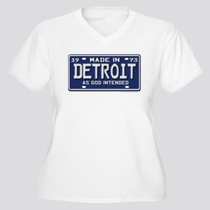 Made in Detroit Women's Plus Size V-Neck T-Shirt