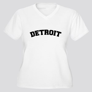 Detroit Black Women's Plus Size V-Neck T-Shirt