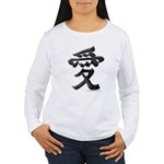 Love Japanese Kanji Women's Long Sleeve T-Shirt