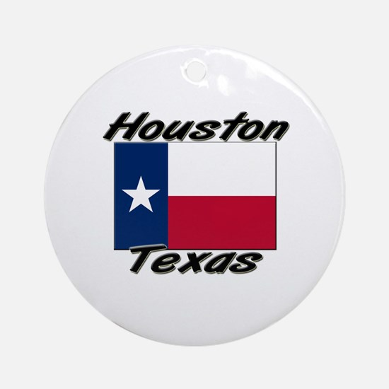 Houston Texas Ornament (Round)