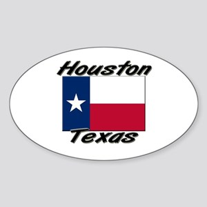 Houston Texas Oval Sticker