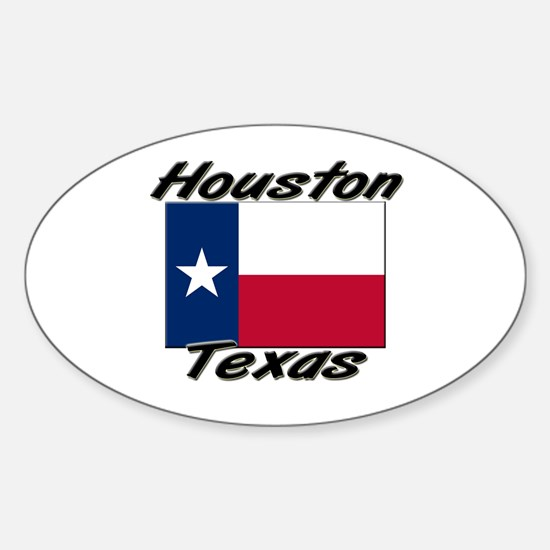 Houston Texas Oval Decal