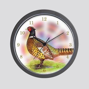 Pheasant Rooster Wall Clock