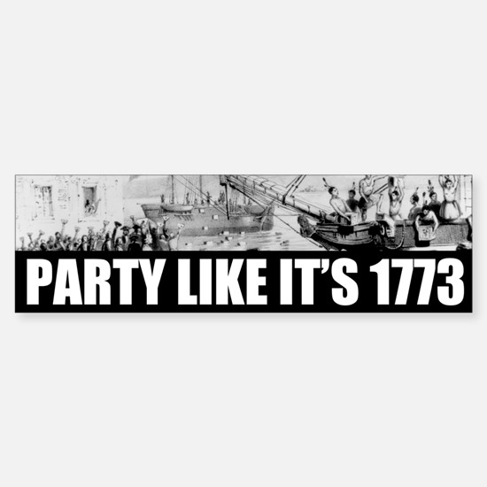 1773 Tea Party Bumper Bumper Bumper Sticker