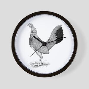 Grey American Game Hen Wall Clock