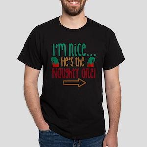 Im Nice Hes Naughty Elf Hat Women's Dark T-Shirt