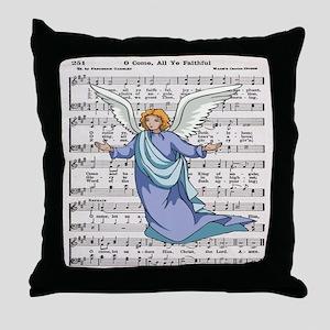 Angel Come all ye faithful Throw Pillow