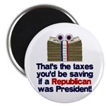 "Taxes You'd Save 2.25"" Magnet (100 pack)"