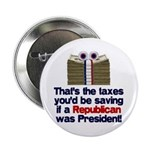 "Taxes You'd Save 2.25"" Button"