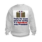 Taxes You'd Save Kids Sweatshirt