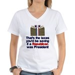Taxes You'd Save Women's V-Neck T-Shirt