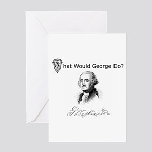 """What Would George Do"" Greeting Card"