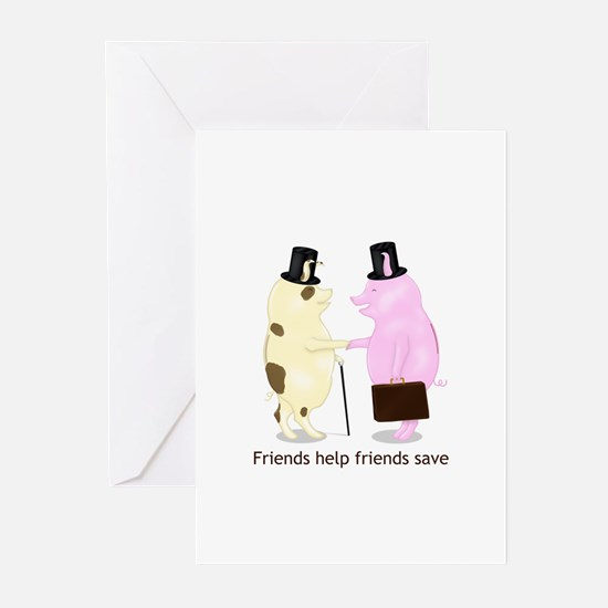 Friends Help Friends Save Greeting Cards (Pk of 20